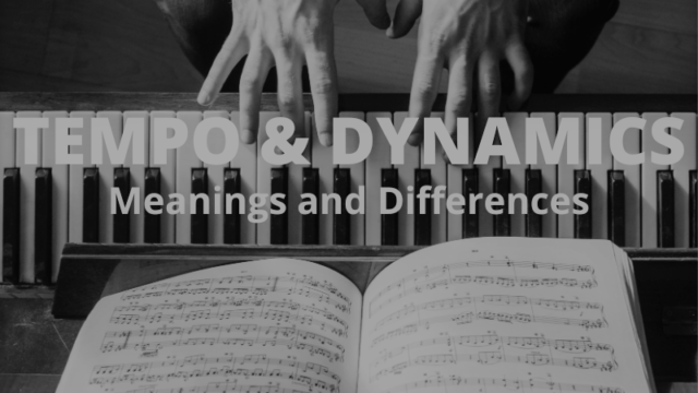 Tempo and Dynamic Markings: A useful guide for piano tutors